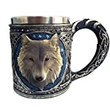 Home Water Cups 3D Wolf King Head Pattern Tasse
