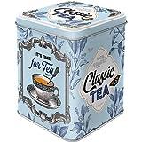 Nostalgic-Art Classic Tea Teedose, Metall, Bunt, 7,5x7,5x9,5 cm