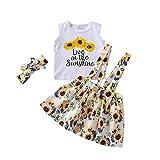 Neugeborene Baby Kleidung Set Little Baby Girls Rock Set Outfits Ärmellose Tanktops + Overall Rock...