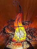 Orientalische Stehlampe Almina Orange 71cm Lederlampe Hennalampe Lampe | Marokkanische Große...