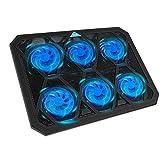 TECKNET Laptop Kühlpads 12-19 Zoll, 6 Lüfter Laptop Cooling Pad mit LEDs Notebook Kühler Cooler...