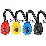Hunde Klicker, [4 PCS, Multi-Color] Diyife Training Klicker mit Handschlaufe, Klicker mit Großem...