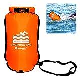 jaspenybow Swim Bubble Swimming Tow Float Aufblasbarer Packsack Float Airbag für Schwimmer,...