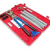 Werkzeugset mit Presszange TH, Rohrschere, Kalibrierer und Biegefedern
