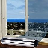 FOCHEA Fensterfolie Selbsthaftend Sonnenschutz Spiegelfolie für Sonnenschutz Fenster Außen und...
