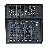 Alesis MultiMix 8 USB FX – kompakter 8-Kanal Studiomixer mit integrierten Effekten und USB Audio...