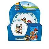 POS 25287088 - Frühstücksset mit Paw Patrol Motiv, 3 teiliges Geschirrset für Kinder bestehend...