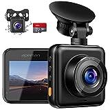 APEMAN Dashcam Vorne und Hinten Autokamera mit MicroSD-Karte, 1080P FHD Mini Dual Lens Kamera, 170...