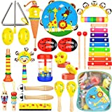 Wesimplelife Kinder Musikinstrumente Musical Instruments Set, Holz Percussion Set Schlagzeug...