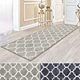 casa pura Kurzflor Teppich Läufer MARRAKESCH mit marokkanischem Muster   Meterware   Rutschfester...