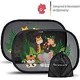 Systemoto Sonnenschutz Auto Baby mit Zertifiziertem UV Schutz (2er Set) - Selbsthaftende...