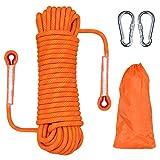HHOOMY Outdoor-Kletterseil, Hochfestes Seil mit 10.5mm Durchmesser Sicherheitsseil Geflecht Nylon...