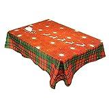 Tonpot Tischdecke Weihnachten rechteckig Polyester Baumwolle Abwaschbar Tischdecke für Buffet Tisch...