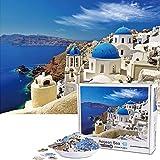 Vimzone Puzzle 1000 Teile- Santorini, 1000 Stück Spiel Puzzles für Erwachsene Kinder,...