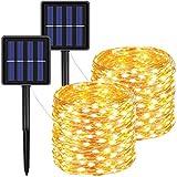 FOAMICHI Solar-Lichterkette für den Außenbereich, wasserdicht, 200 LEDs, 8 Modi, für Rasen,...