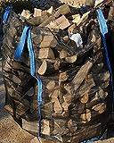5 x Hochwertige Premium Holzbag Big Bag für Brennholz Woodbag Scheitholz Brennholzsack Netz BigBag...