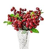 Winomo Künstliche Beeren wie das Leben, Mini-Beren-Simulation von Obstpflanzen (rot)