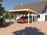 Prikker Carport Flachdach Montreal VIII 400x700 cm Leimbinder Fichte Flachdachcarport