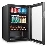 Barkühlschrank - Backbar, Getränkekühlschrank, Gewerbekühlschrank, Schwarz 0 bis 22 °C,...