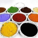 10 teiliges Proben Bastelset je 100g (24,85€/kg) Pigmentpulver Eisenoxid Oxidfarbe Farbpigmente...