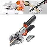 HOHXEN 45–135 Grad Mehrwinkel-Gehrungsschere, Handwerkzeuge, Weichholz, orange/schwarz,...