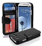 Cadorabo Hülle für Samsung Galaxy S3 / S3 NEO in Oxid SCHWARZ – Handyhülle mit Magnetverschluss...