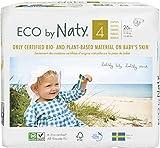 Eco by Naty, Größe 4, 156 Windeln, 7–18kg, MONATSVORRAT, pflanzliche Premium-Bio‑Windeln mit...