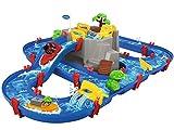 AquaPlay - Wasserbahn Set Bergsee - 42-teiliges Spieleset mit Bergsee, Wasserfall und geheimer...