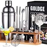 GOLDGE Cocktail Set Cocktail Shaker 18 Teiliges Cocktail Mixer Geschenk Set Bar Zubehör 750ML...