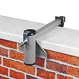 Videx Sonnenschirmhalter Balkon-Mauerbrüstung Aluminium-farbig, Ø Schirmstock bis 40 mm, sehr...