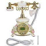 Vintage-Telefon, FSK/DTMF-Anrufer-ID Automatische Erkennung Hintergrundbeleuchtung IP-Retro-Telefon...