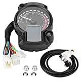 Fydun Tachometer Universal Motorrad Digital Bunte LCD Tachometer Kilometerzähler...