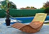 Hilmo - Modell Miami, Poolliege Sonnenliege Schwungliege Saunaliege Gartenliege, 150 cm x 70 cm x 93...