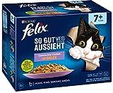 Felix Katzennassfutter So gut wie es aussieht in Gelee Senior Gemischte Vielfal, 6er Pack (6 x 12 x...
