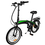 CM67 E Bike Klappbar 20 Zoll FahrradDamen Folding Frame Aus Alu Leicht FahrradDamen 7 Gang Mit...