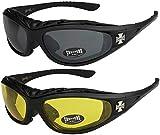 X-CRUZE 2er Pack Choppers 911 Sonnenbrillen Motorradbrille Sportbrille Radbrille - 1x Modell 01...