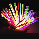 Knicklichter Leuchtstäbe 100 Stücke mit Verbinder Farbmix über 10 Stunden Leuchtdauer für...