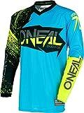 0008-903 - Oneal Element 2018 Burnout Motocross Jersey M Schwarz Blau Hi-Viz