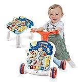 Arkmiido 2 in 1 Baby Walker Lauflernwagen Lauflernhilfe mit Lichtern und Musik...