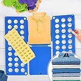 Jago XXL Wäsche Faltbrett 2er Set - in Blau (B/H: 70x59cm) und Gelb (B/H: 50x40cm) - Wäschefalter,...