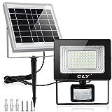 CLY Solarlampe für Außen Solar Strahler 60 LED Solarleuchte mit Bewegungsmelder LED Solar...