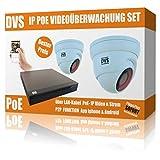 IP HD Videoüberwachung Set mit 2 IP Dome Kameras und NVR inkl. Zubehör - 4000GB Festplatte