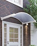 Schulte Rundbogenvordach 160 x 90 cm Polycarbonat klar Aluminium weiß Vordach mit Wasserspeiern...