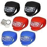 LED Lampe Licht Sicherheitslicht LED Kinderwagen Set Silikon Leuchte Kinderwagen 6 Stück...