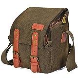 Kameratasche,CADeN Wasserabweisend Leinwand Retro Kompakte Fototache Sling Schulter Tasche...