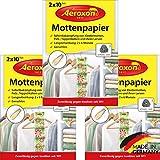 Aeroxon - Mottenpapier - 3x20 Stck - gegen Motten, Kfer und Larven - Mottenschutz fr ihre Kleidung...
