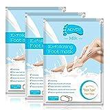 3er Pack Fußpeeling-Maske, Peeling Fußschwielen Schwielen entfernen abgestorbene Haut,...