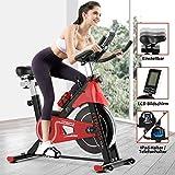 Fitnessclub Indoor Heimtrainer Radfahren mit Riemengetriebenem Schwungrad Radfahren Verstellbarer...