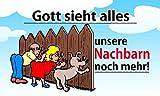 Fanshop Lünen Fahne - Flagge - Gott Sieht Alles - unsere NACHBARN noch mehr - 90x150 cm - Hissfahne...