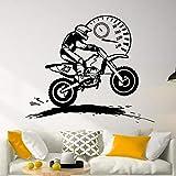 JXND Freestyle Motocross Tachometer Wandaufkleber Vinyl Wohnkultur Boy Room Motorradfahrer Dirt Bike...